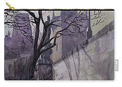 Carry-all Pouch featuring the painting Dusk At The Charles Bridge by Marina Gnetetsky