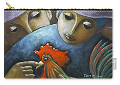 Carry-all Pouch featuring the painting El Gallo by Oscar Ortiz