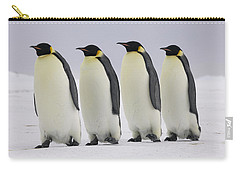 Emperor Penguins Walking Antarctica Carry-all Pouch by Frederique Olivier