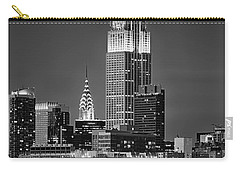 Empire And Chrysler Buildings Carry-all Pouch