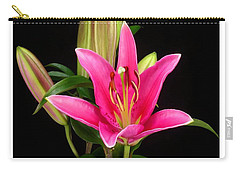 Erotic Pink Purple Flower Selection Romantic Lovely Valentine's Day Print Carry-all Pouch by Navin Joshi