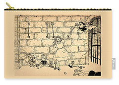 Carry-all Pouch featuring the drawing Escape by Reynold Jay