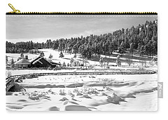 Carry-all Pouch featuring the photograph Evergreen Lake House Winter by Ron White