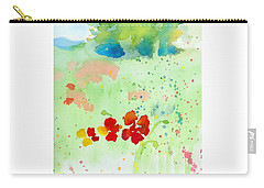 Field Of Flowers Carry-all Pouch by C Sitton