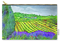 Fields At Dievole Carry-all Pouch