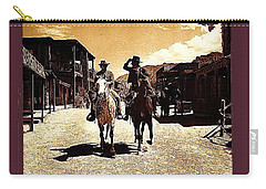 Film Homage Mark Slade Cameron Mitchell Riding Horses The High Chaparral Old Tucson Az C.1967-2013 Carry-all Pouch by David Lee Guss