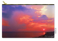 Carry-all Pouch featuring the photograph Fire In The Sky by Holly Martinson