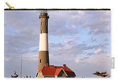 Carry-all Pouch featuring the photograph Fire Island Lighthouse by Karen Silvestri