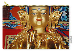 Carry-all Pouch featuring the photograph Five Dhyani Buddhas by Lanjee Chee