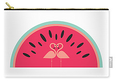 Flamingo Watermelon Carry-all Pouch by Susan Claire