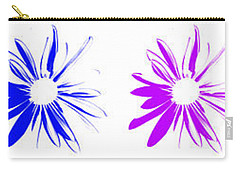 Flowers On White Carry-all Pouch