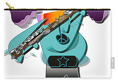 Carry-all Pouch featuring the digital art Flute Player by Marvin Blaine