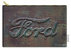 Detail Old Rusty Ford Pickup Truck Emblem Carry-all Pouch