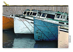 Four Boats In Blue Carry-all Pouch