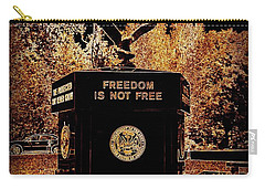 Carry-all Pouch featuring the photograph Freedom Is Not Free by Kelly Awad
