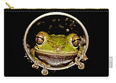 Carry-all Pouch featuring the photograph Frog by Olga Hamilton