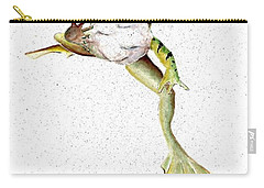 Frog On Waterline Carry-all Pouch