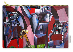 Carry-all Pouch featuring the painting Gaungian Dimensional by Ryan Demaree