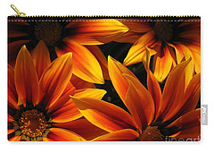 Gazania Named Kiss Orange Flame Carry-all Pouch by J McCombie