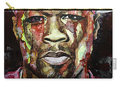 Carry-all Pouch featuring the painting Get Rich Or Die Tryin' by Laur Iduc