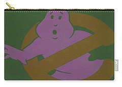 Carry-all Pouch featuring the digital art Ghostbusters Movie Poster by Brian Reaves