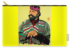 Carry-all Pouch featuring the painting Giuseppe  Garibaldi by Roberto Prusso
