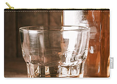 Glass Of Southern Scotch Whiskey On Wooden Table Carry-all Pouch