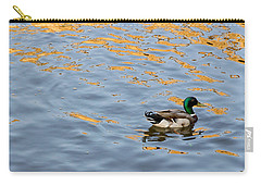 Carry-all Pouch featuring the photograph Golden Ripples by Keith Armstrong