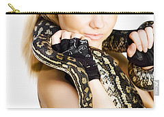 Gorgeous Blonde Snake Handler Carry-all Pouch