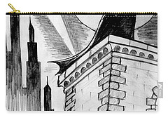 Carry-all Pouch featuring the painting Gotham  by Salman Ravish