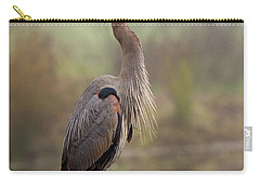 Great Blue Heron Carry-all Pouch by Doug Herr