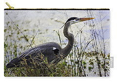 Great Blue Heron Carry-all Pouch by Fran Gallogly