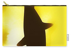 Carry-all Pouch featuring the digital art Great White  by Aaron Berg