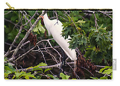Great White Egret Carry-all Pouch by Chris Flees