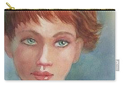 Green Eyes Carry-all Pouch by Marilyn Jacobson