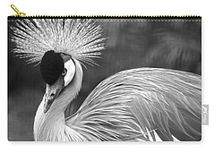 Grey Crowned Crane Carry-all Pouch by Venetia Featherstone-Witty