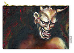 Carry-all Pouch featuring the painting Hannya by Hiroko Sakai