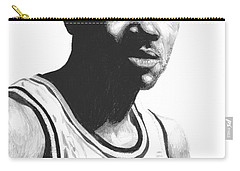Carry-all Pouch featuring the drawing Hardaway by Tamir Barkan