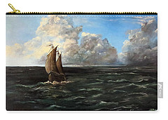 Carry-all Pouch featuring the painting Heading For Shore by Lee Piper