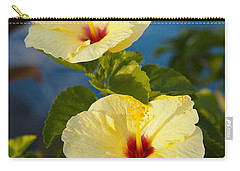 Carry-all Pouch featuring the photograph Bright Yellow Hibiscus by Roselynne Broussard