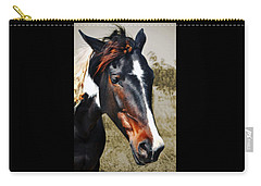 Carry-all Pouch featuring the photograph Horse by Savannah Gibbs