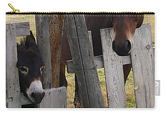 Horsing Around Carry-all Pouch by Athena Mckinzie