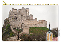 Carry-all Pouch featuring the photograph Hrad Beckov - Castle by Les Palenik