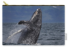 Humpback Whale Breaching Prince William Carry-all Pouch by Hiroya Minakuchi