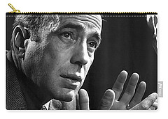 Humphrey Bogart Portrait 2 Karsh Photo Circa 1954-2014 Carry-all Pouch by David Lee Guss