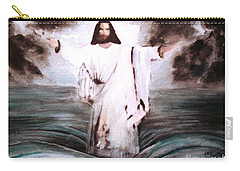 Carry-all Pouch featuring the painting I Am by Hazel Holland