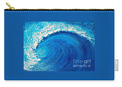 Carry-all Pouch featuring the painting Inside The Wave by Teresa Wegrzyn
