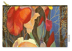Carry-all Pouch featuring the painting Irises by Marina Gnetetsky
