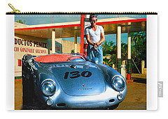 James Dean Filling His Spyder With Gas Carry-all Pouch