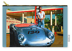 James Dean Filling His Spyder With Gas Carry-all Pouch by Doc Braham